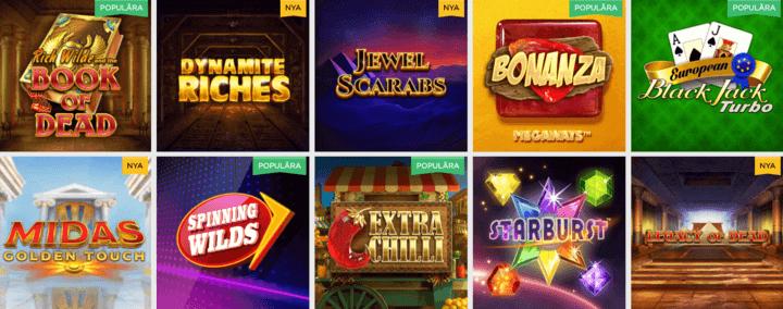 spel hos Lucky Vegas