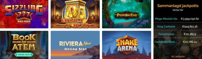 Spelutbud hos PlayZee Casino