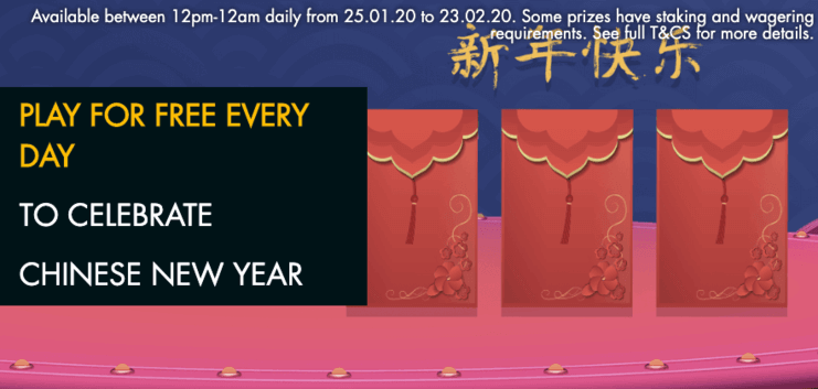 Play for Free Every Day to Celebrate Chinese New Year at grosvenor casino