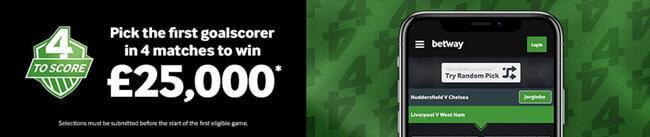 top 4 score betway promotion