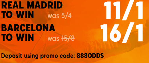 real madrid v barcelona boosted odds 01st march 2020