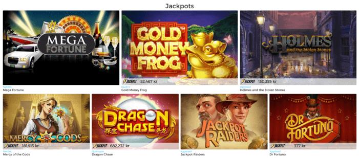 jackpottar hos pronto live casino