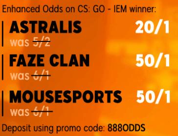 enhanced odds banner 888 cs:go IEM