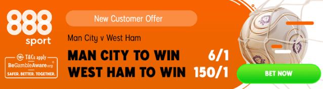man city v west ham boosted odds 888 sport banner