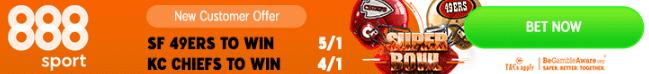 super bowl enhanced odds promotion banner