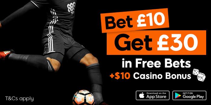 888 sports bonus banner bet 10 get 30 and 10 in casino bonus