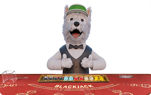 betpal mascot playing blackjack