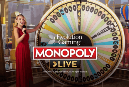 monopoly live from evolution gaming