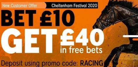 bet 10 get 40 cheltenham festival banner 888