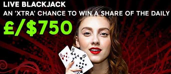 888 live blackjack promotion