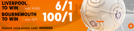 liverpool v bournemouth enhanced odds 888 sport