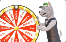 betpal dog with money wheel