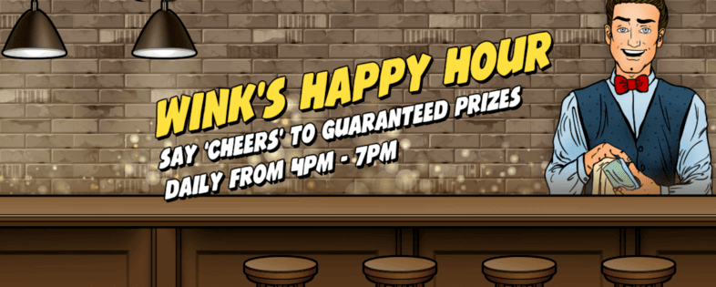 wink bingo happy hour