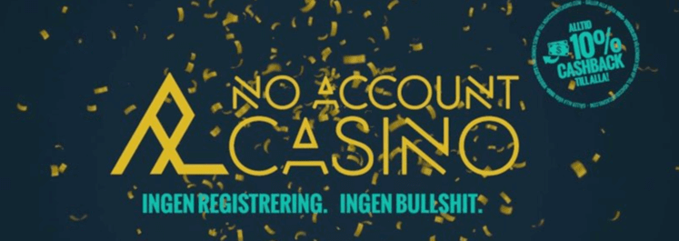 no account casino cashback banner