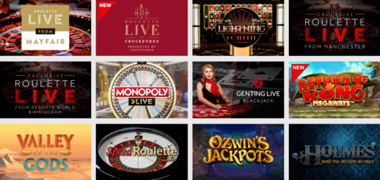 genting bet casino games