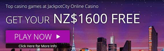 jackpot city NZ signup bonus