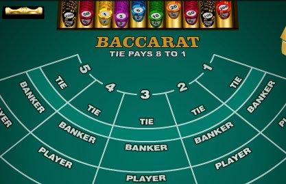 midi baccarat table