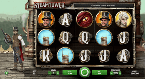 steamtower slot game