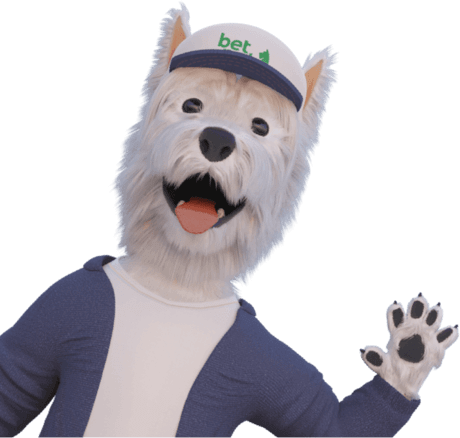 betpal dog mascot waving