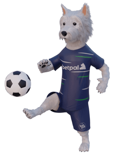 betpal dog mascot with a football