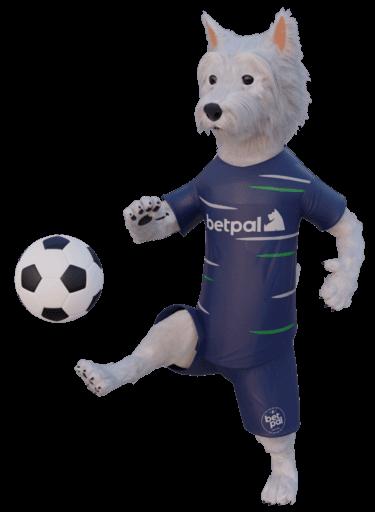 betpal dog mascot playing football