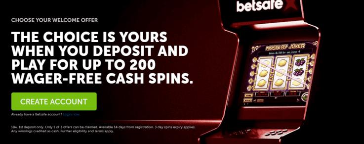 betsafe wager free cash spins promo