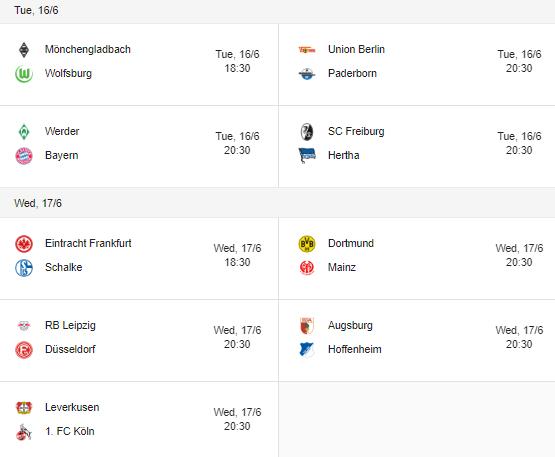 bundsliga 2020 fixtures 16-17 June