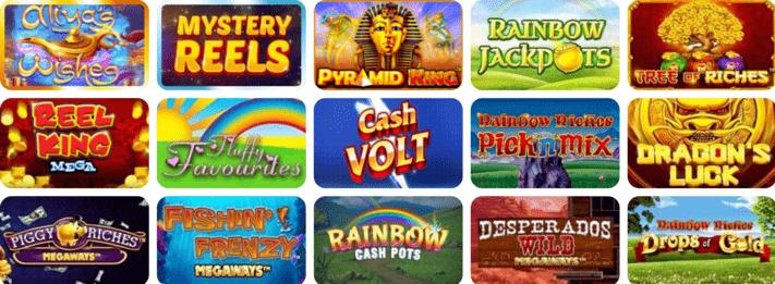Games at Incredible Spins Casino