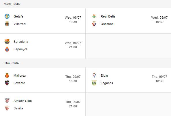 liga fixtures 08-09 july 2020