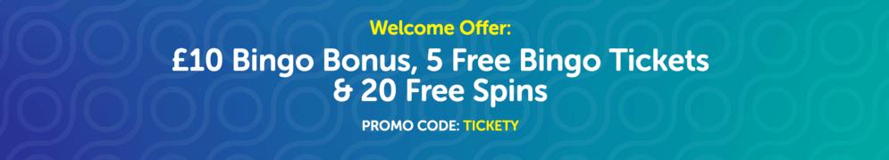 tickety bingo welcome offer