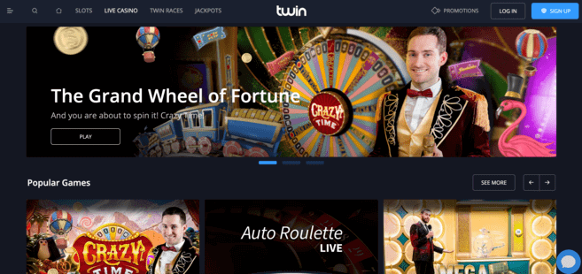 live casino at twin casino