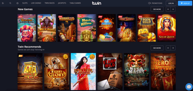 twin casino homepage