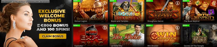 regent casino example of games
