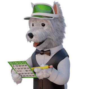 betpal dog mascot playing bingo