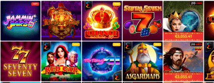 SlotWolf Casino - example of games