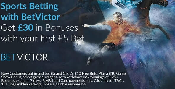 betvictor sports betting bonus uk