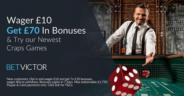betvictor live casino bonus offer