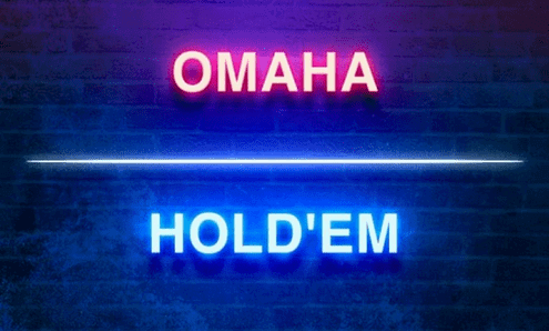 omaha and holdem neon sign