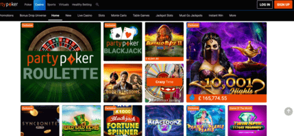 partypoker casino homepage