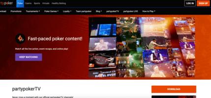 PartyPoker - poker live stream