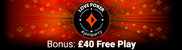 partypoker welcome bonus: £40 Free Play