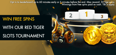win free spins at red tiger slots tournament with grosvenor casino