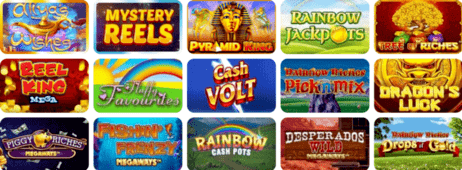 Example of slot games at Incredible Spins Casino