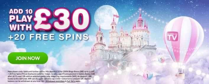 Welcome Bonus at Moon Bingo