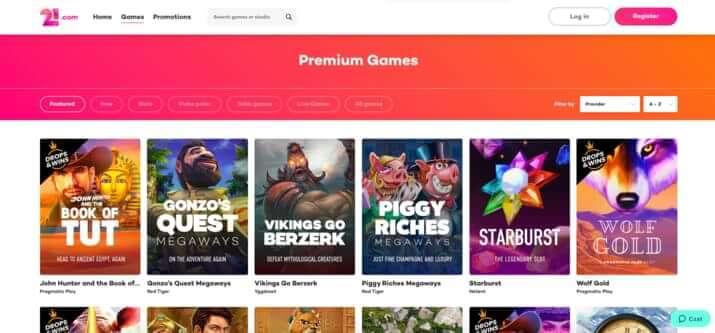 Games at 21.com