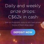 Tournois quotidiens et hebdomadaires: C$62000 en espèces au Genesis Casino