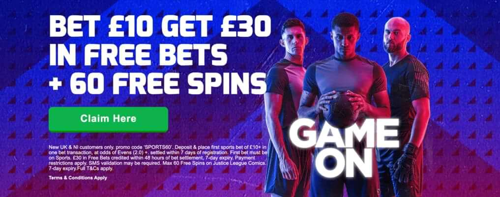 betfred free spins offer