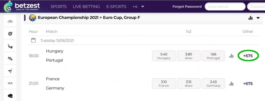 euro cup betting markets betzest