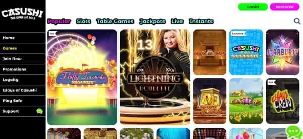 casushi casino uk