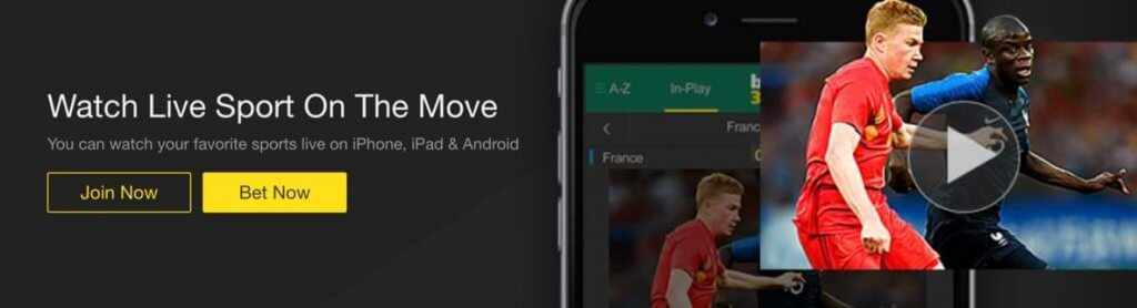 watch live sports on the move at bet365